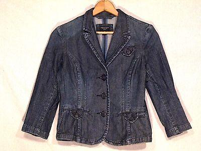 American Eagle button stretch denim jean jacket / women M / nice / b5
