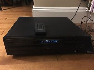 Kenwood multiple compact disc player with remote