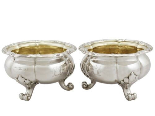 Antique Victorian Sterling Silver Salts By Paul Storr London Circa 1840