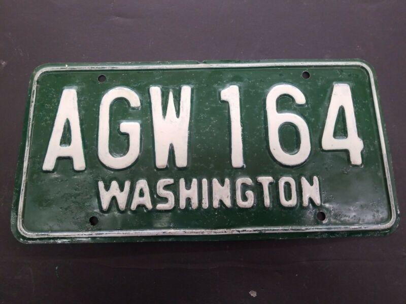 VINTAGE 1958-62 Washington Passenger Vehicle License Plate AGW 164
