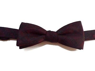 Ryan Seacrest bow tie red black glitter plaid silk new