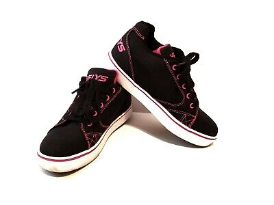 Heelys Voyager Shoes Youth/Womens Black and Neon Pink