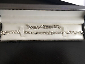 BRAND NEW silver chain and bracelet