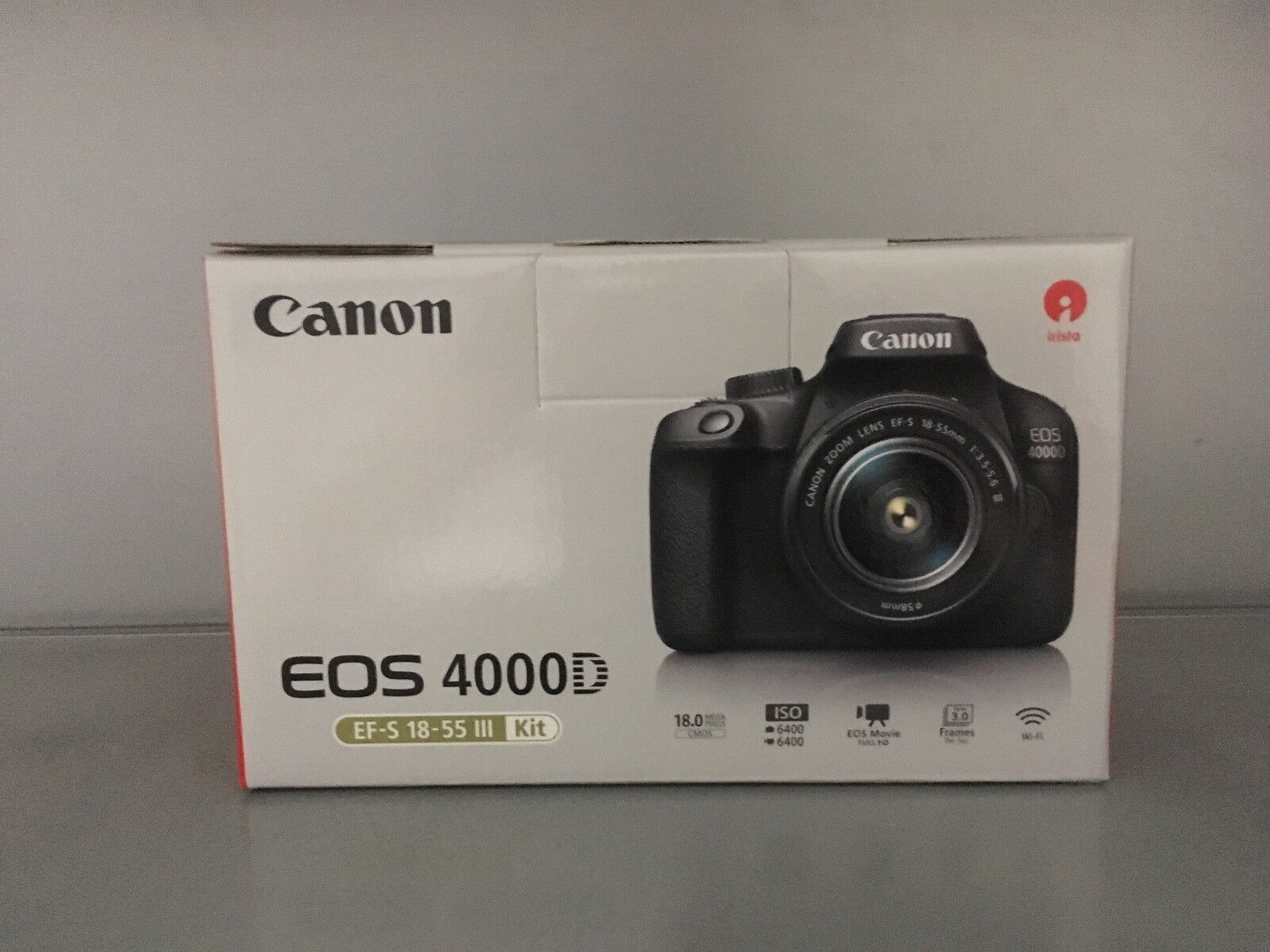 CANON EOS 4000D Kit Spiegelreflexkamera 18MP mit Objektiv 18-55 mm f/5.6 Wlan ❌