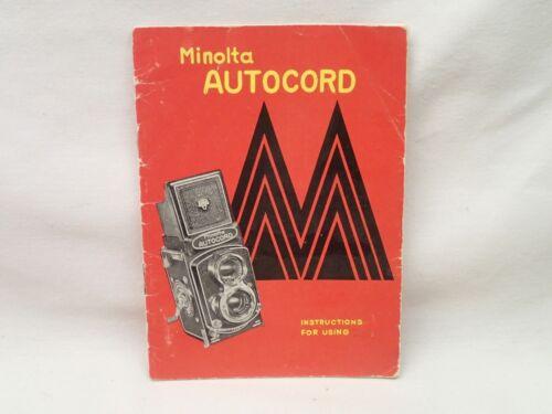 Minolta Autocord Camera Original Owners Instruction Manual