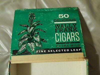 Extra Cigars - Wally Frank Cigars ~Extra Mild~ [New York] CIGAR BOX - Vtg_Ltd - HTF Tobacciana