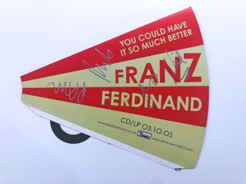 Franz Ferdinand SIGNED PROMO DISPLAY You Could Have It So Much Better indie rock