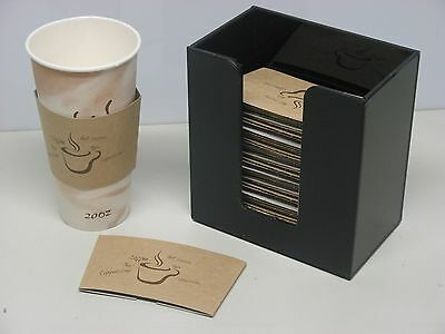 Coffee Cup Sleeve or Hot Cup Holder Short Dispenser Organizer for Hot Drink Cups (Coffee Cup Sleeve Dispenser)