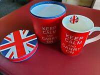 "Tasse England ""Keep Calm And Carry On"" Sachsen-Anhalt - Stendal Vorschau"
