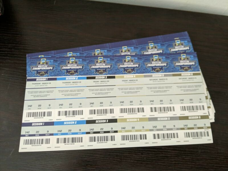 2020 NCAA Wrestling championships Tickets - Event Cancelled Souvenir Only