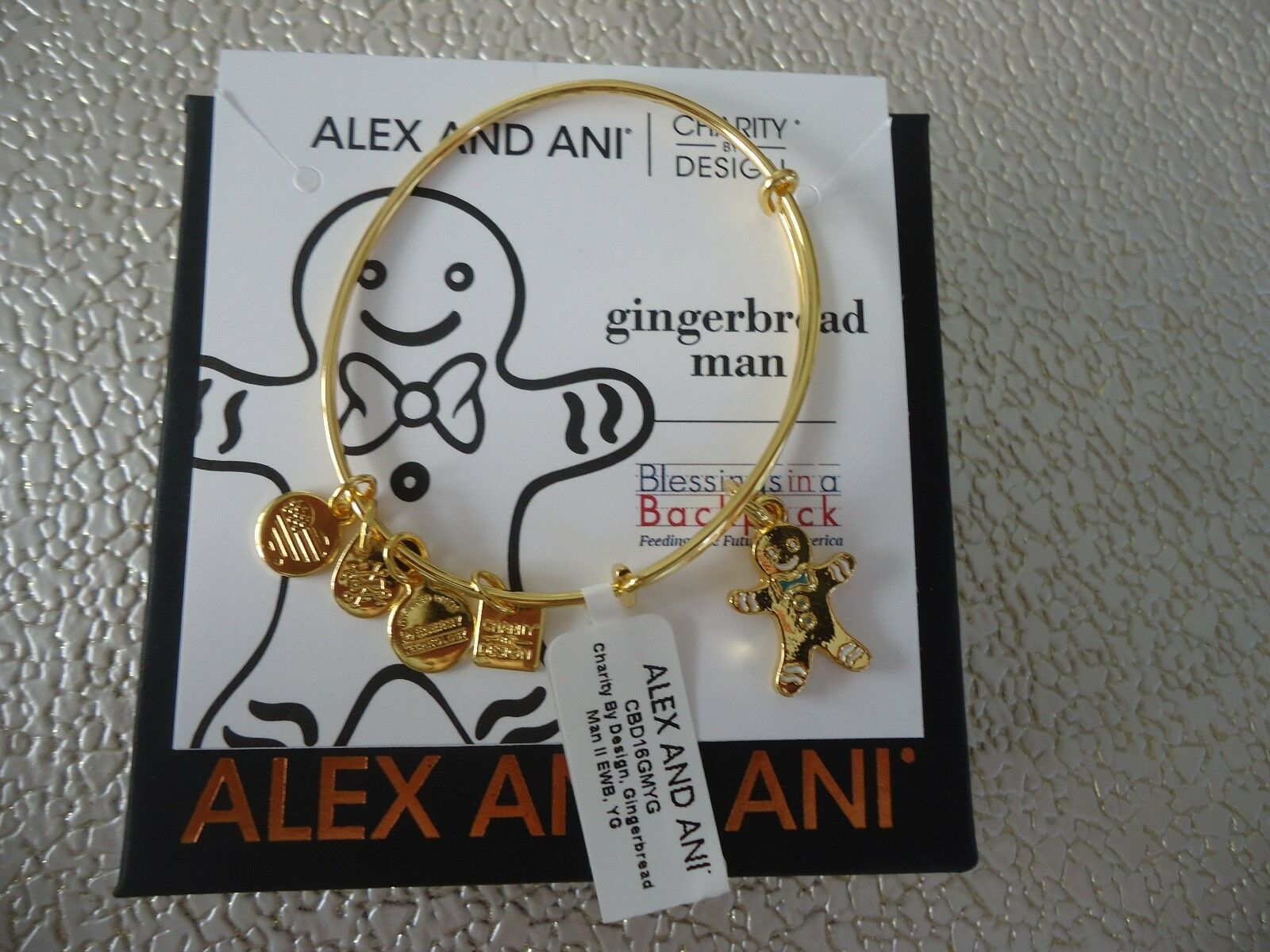 Alex And Ani Gingerbread Man Ii Shiny Gold Finish Bangle ...