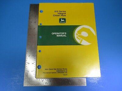 John Deere Operators Manual Om-n200676 610 Series Integral Chisel Plow M5378