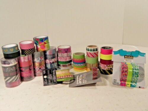 Washi tape rolls planner scrapbooking crafts Scotch Spritz Tazzel Glitter 59 pcs