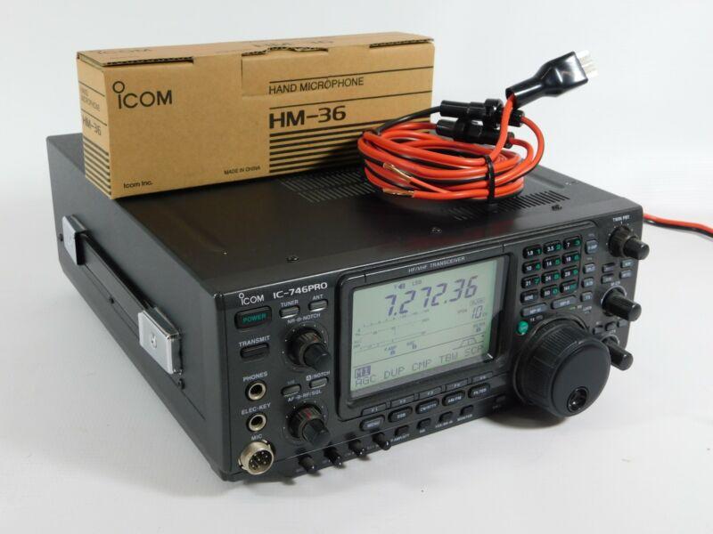 Icom IC-746PRO Ham Radio HF Transceiver w/ Mic + Power Cable (great condition)