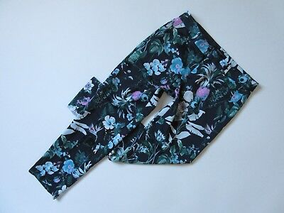 NWT Banana Republic Avery in Floral Pineapple Tropical Crop Trouser Pants 4 $98 Tropical Crop Hose