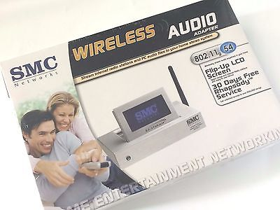 SMC EZ-Stream SMCWAA-G 802.11b/g Wireless Audio Treamer Adapter w/ LCD Display 802.11b/g Lcd Display
