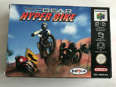TOP GEAR HYPER BIKE NINTENDO 64 N64 PAL EURO COMPLET