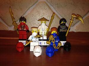 5x Lego® Ninjago™ Figuren Figur Ninja Wu Lloyd Kai Jay Cole Zane Rebooted™ NEU