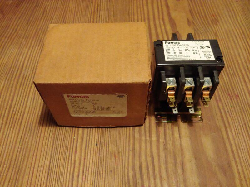 Furnas Definite Purpose Magnetic Contactor 42DE35AG106 Series C
