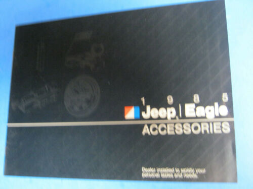1985 JEEP EAGLE ACCESSORIES CATALOG  BROCHURE ORIGINAL