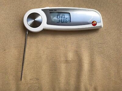 Testo 104 Waterproof Food Probe Thermometer. Measures In F C And R. Used.