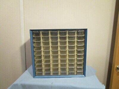 Vintage Metal Parts Cabinet 60 Drawer Akro Mils Blue Steel Organizer