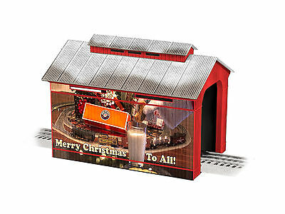 """LIONEL 6-83291 CHRISTMAS 12"""" COVERED BRIDGE TOY TRAIN LAYOUT ACCESSORY O GAUGE for sale  Shipping to Canada"""
