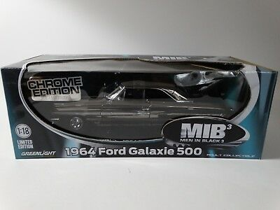 Greenlight 1964 Ford Galaxie 500 Chrome Men In Black 3 Movie 1:18 Diecast Car for sale  Shipping to Canada