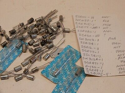 Huge Lot Vintage Transistors As Shown Not All The Transistors Are On The List