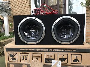 """Dual 12"""" Sony Xplod subwoofers and amp all in one"""