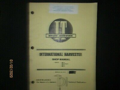 International Harvester Tractor Series 234 244 Hydro 254 Shop Service Manual