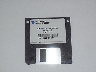 National Instruments Ni Scxi Application Examples Software 3.5 Floppy Disk 1995
