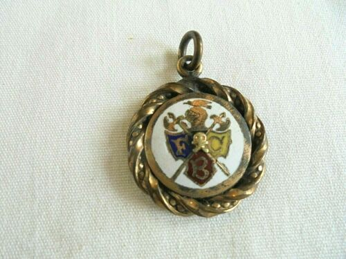 Antique Knights of Pythias Double Sided Charm or Watch Fob
