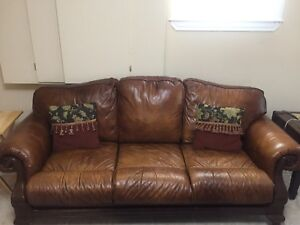 Real Leather couches very well maintained!