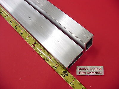 2 Pieces 1x 2x 18 Wall Aluminum Rectangle Tube 6063 T52 X 36 Long