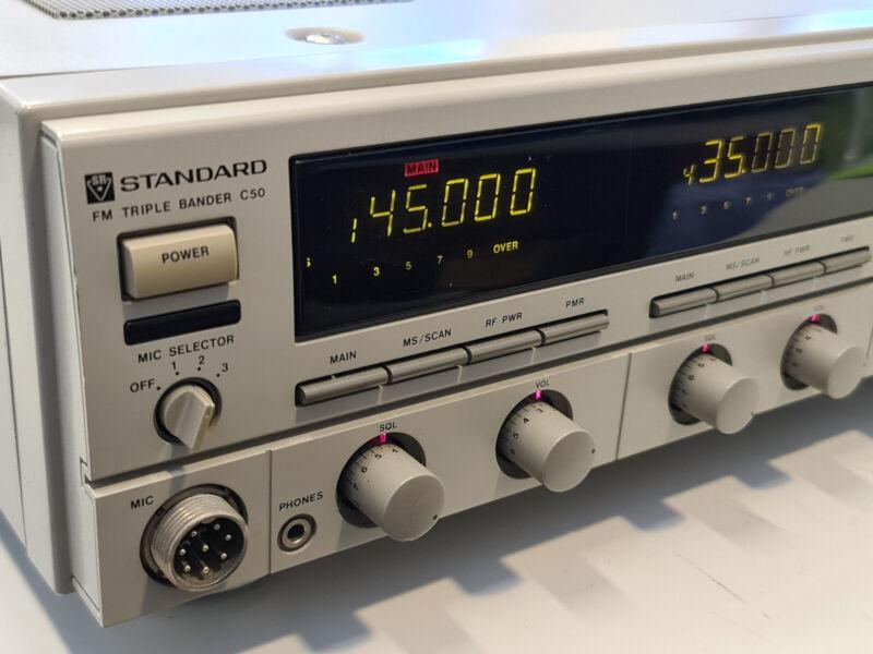 STANDARD C-50 Triple Band Base Transceiver, VHF UHF, 1200 MHz, VERY RARE!!