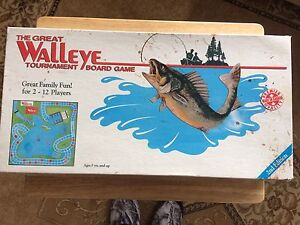 The Great Walleye Vintage Board Game