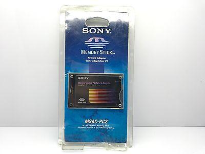 NEW SONY MEMORY STICK PC CARD ADAPTOR MSAC-PC2