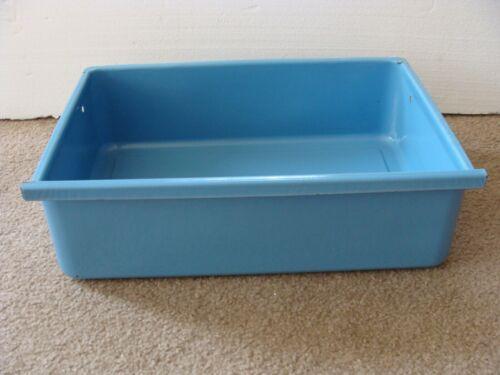Blue Metal porcelain enamel vegetable crisper drawer 1950