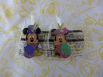NEW Tokyo Disney Sea Japan Mickey & Minnie Fashionable Easter Game Prize Pin