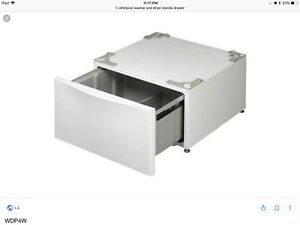 Pair of washer and drier pedestal drawer