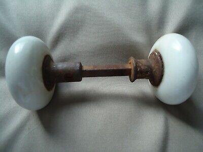 """Antique 2-1/4"""" Diameter White Porcelain Door Knob."""