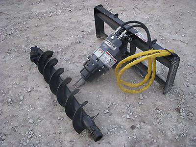 Bobcat Skid Steer Attachment - Danuser Ep 10 Hex Auger With 12 Bit - Ship 199