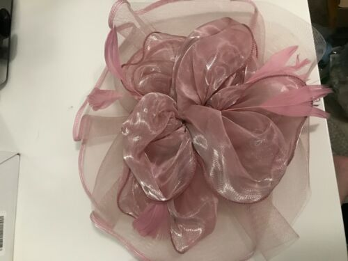 SAFERIN Derby Hat with Clip and Headband - Pink