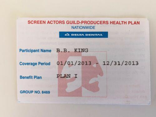 BB King OWNED SAG Screen Actors Guild Insurance Card JULIENS Estate