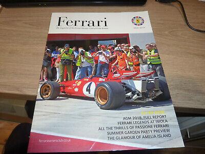 Ferrari Owners Club Magazine issue 203 June 2018 VGC