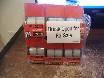 12 Rolls With Dispensers Scotch 2157ss 34 X 250 Photo Safe Transparent Tape
