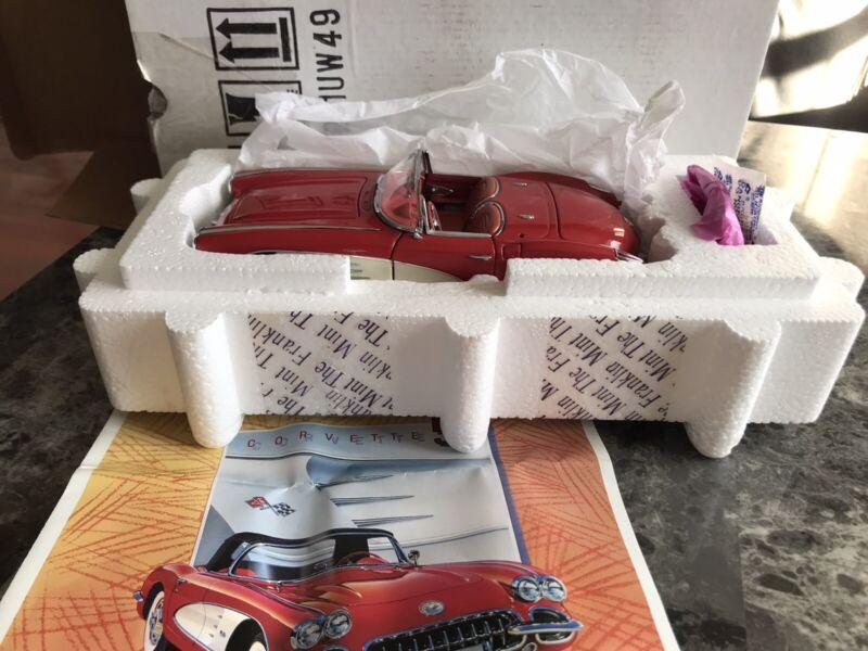 Franklin Mint 1:24 1959 Chevrolet Corvette Convertable W/Tag, Original Box ,COA