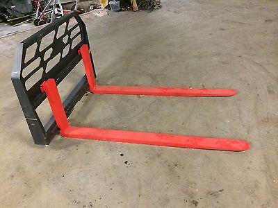 60 Skidsteer Pallet Forks 4000lb Capacity Univ. Fit For Bobcat Jd Nh Cat