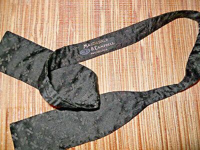 1940s Mens Ties | Wide Ties & Painted Ties 1940's Black Silk +++ Plus Signs Bow Tie MacDonald & Campbell Philadelphia 30.5